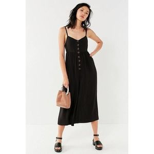 Urban Outfitter Tootsie Black Wide Leg Jumpsuit XS